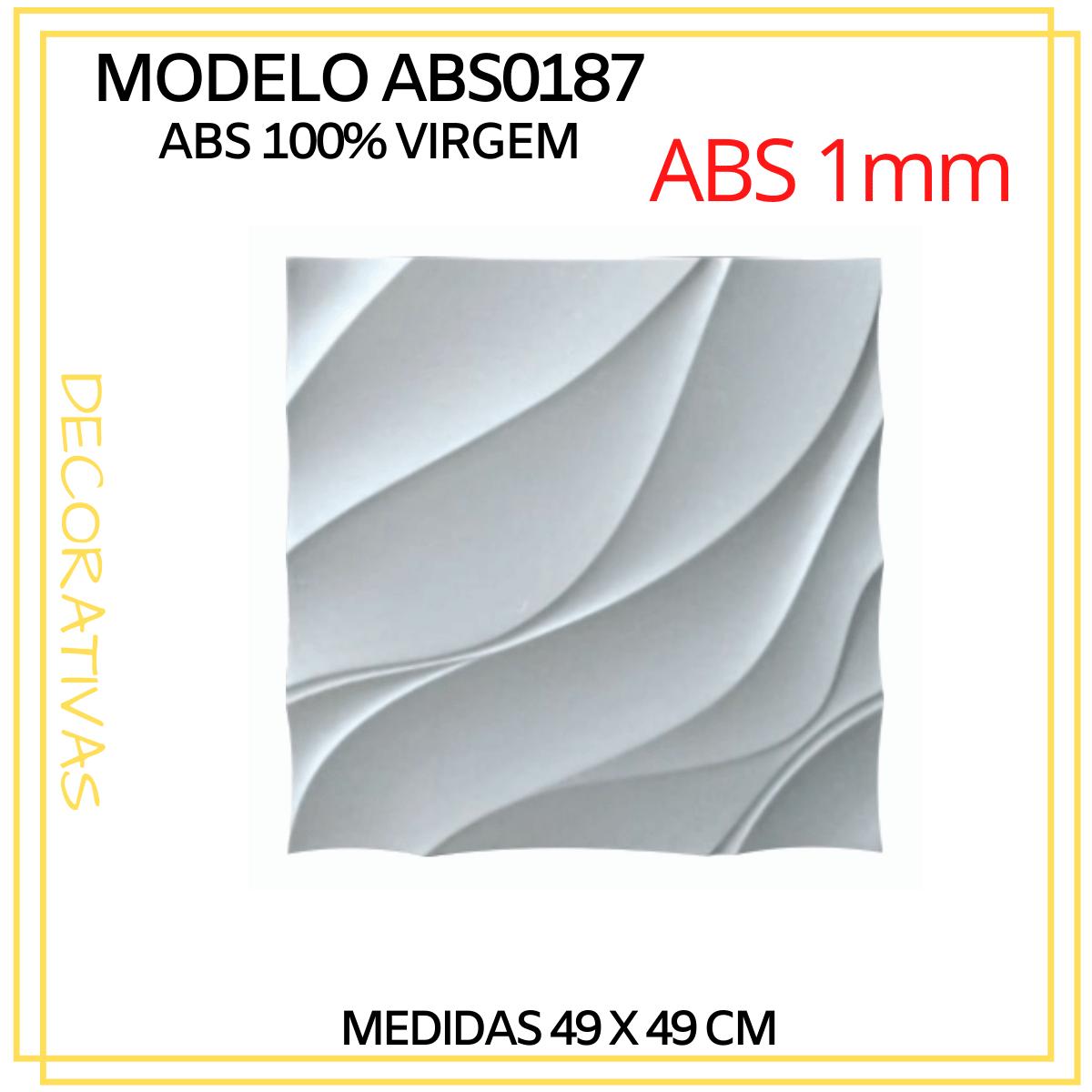 Forma De Gesso 3D em ABS - ABS0187-1MM 49x49cm
