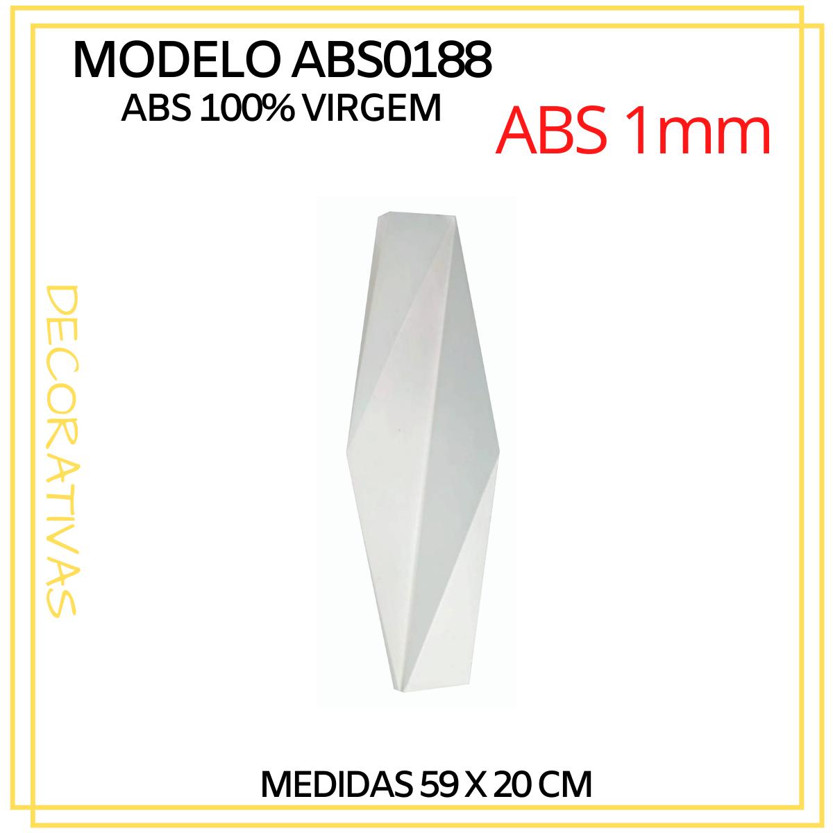 Forma De Gesso 3D em ABS - ABS0188-1MM 59x20cm