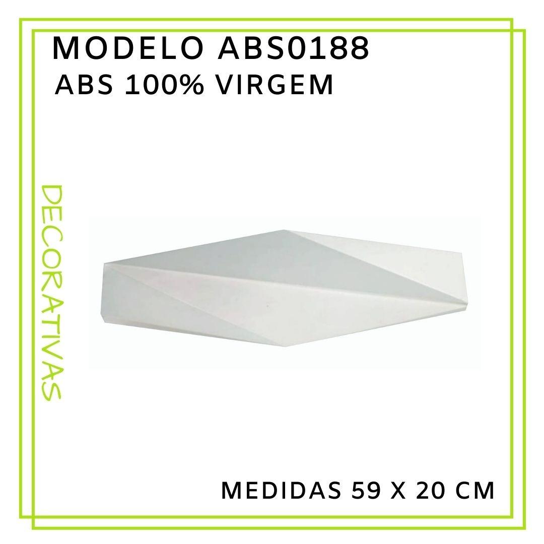 Forma De Gesso 3D em ABS - ABS0188-2MM 59x20cm