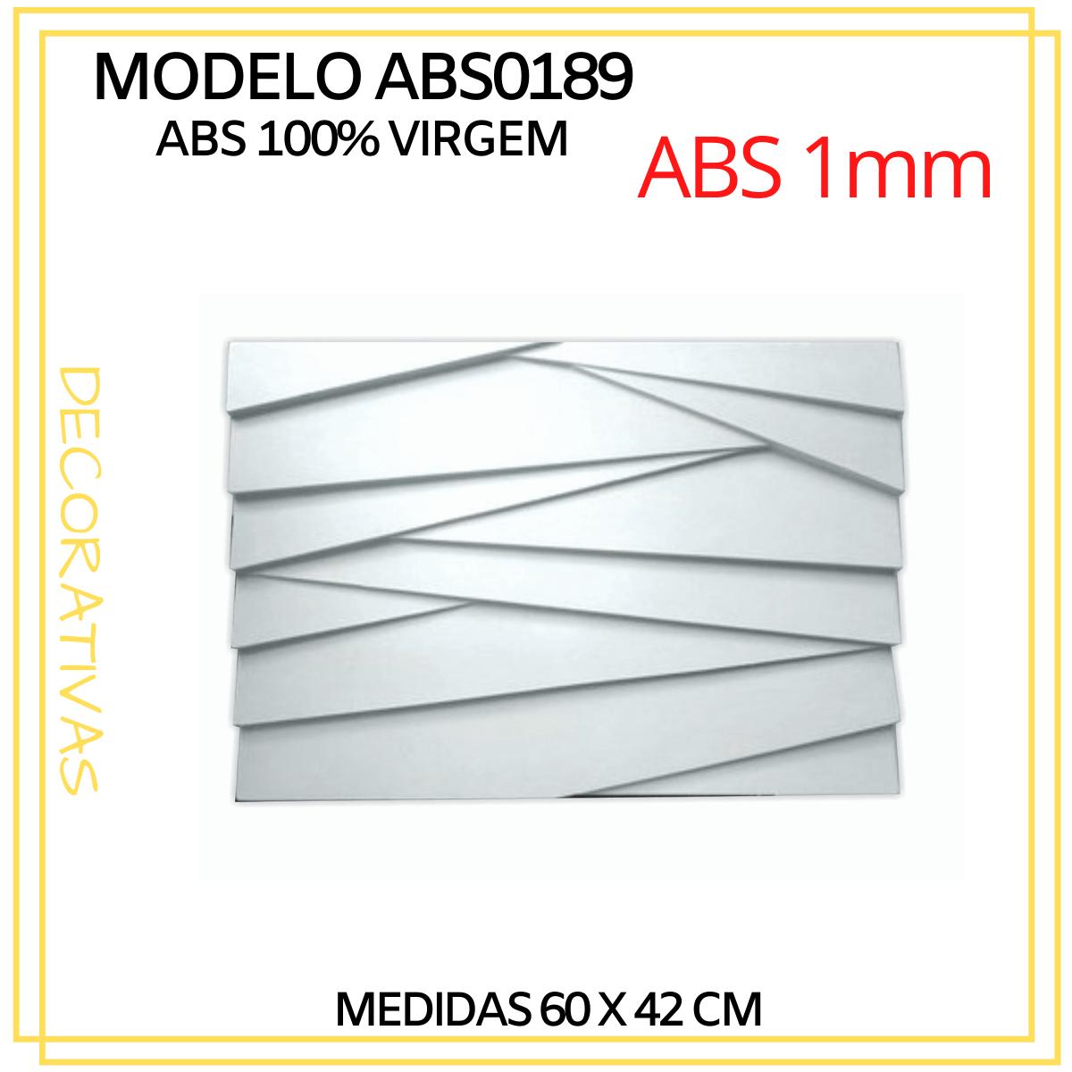 Forma De Gesso 3D em ABS - ABS0189-1MM 60x42cm