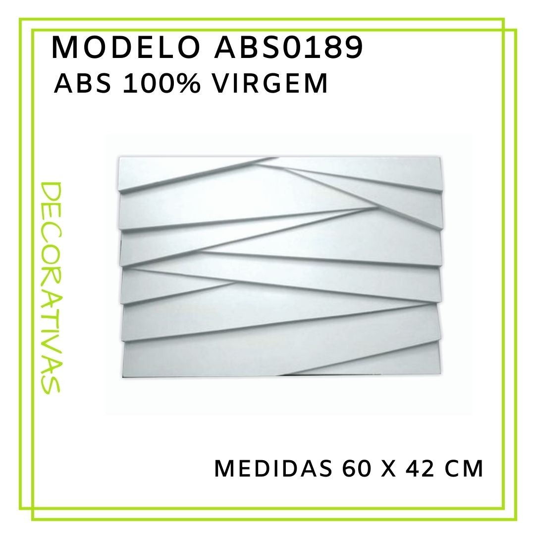 Forma De Gesso 3D em ABS - ABS0189-2MM 60x42cm