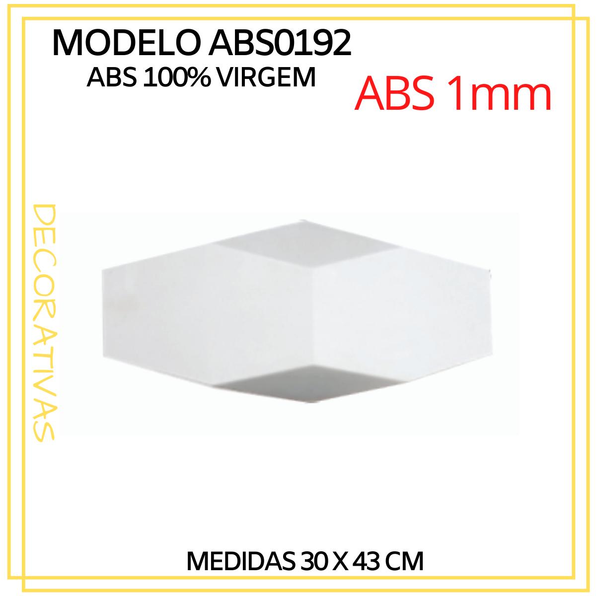 Forma De Gesso 3D em ABS - ABS0192-1MM  49x20cm