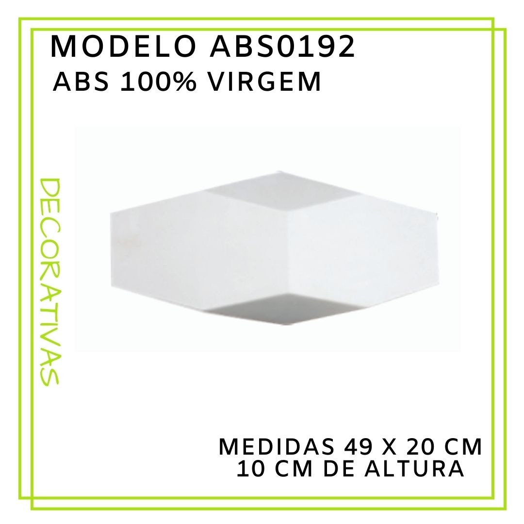 Forma De Gesso 3D em ABS - ABS0192-2MM 49x20cm