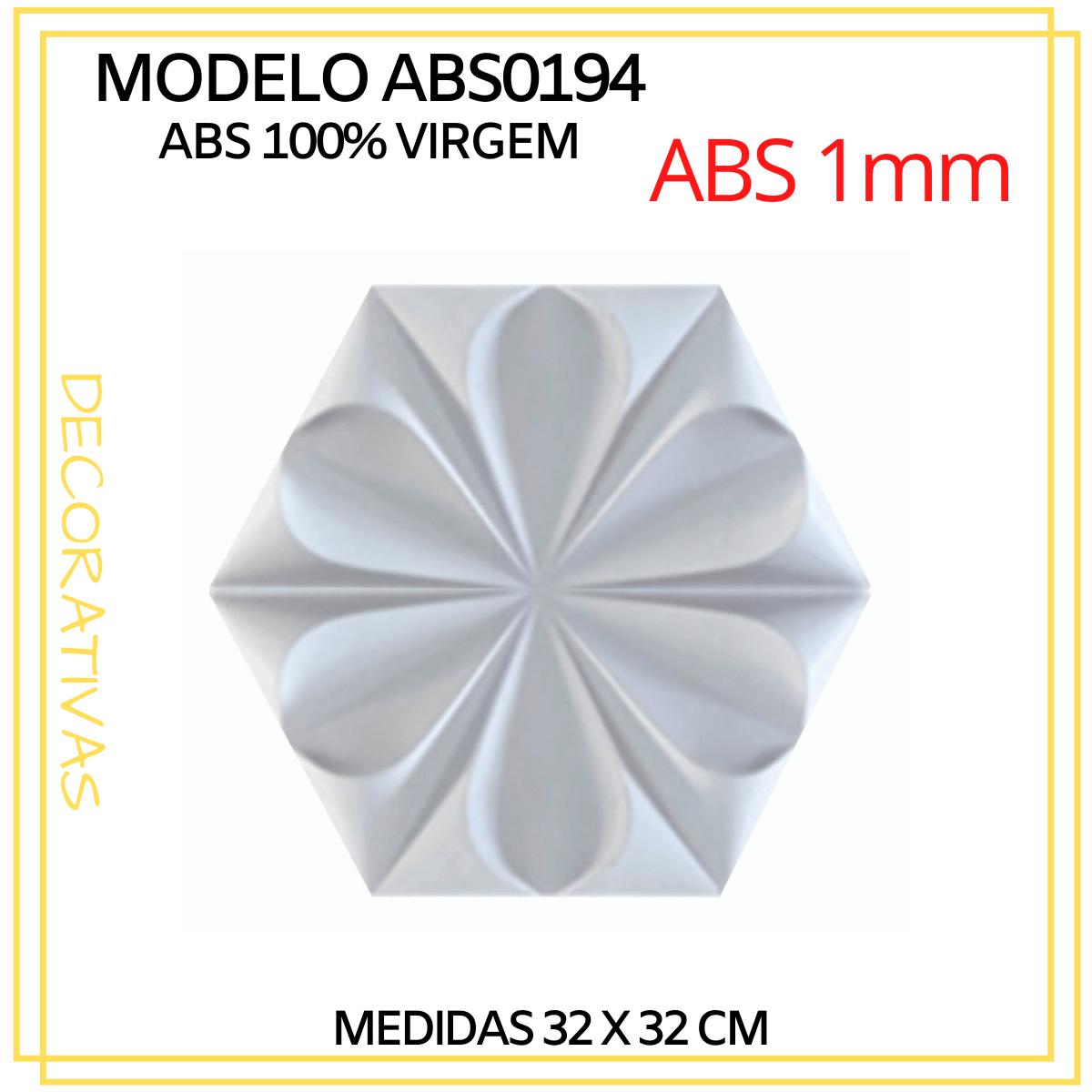 Forma De Gesso 3D em ABS - ABS0194-1MM 33x29,5cm