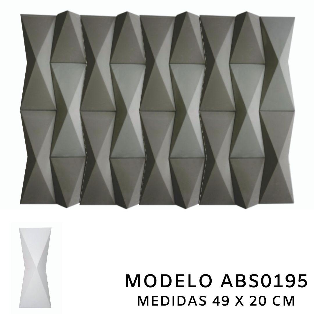 Forma De Gesso 3D em ABS - ABS0195-2MM 49x20cm