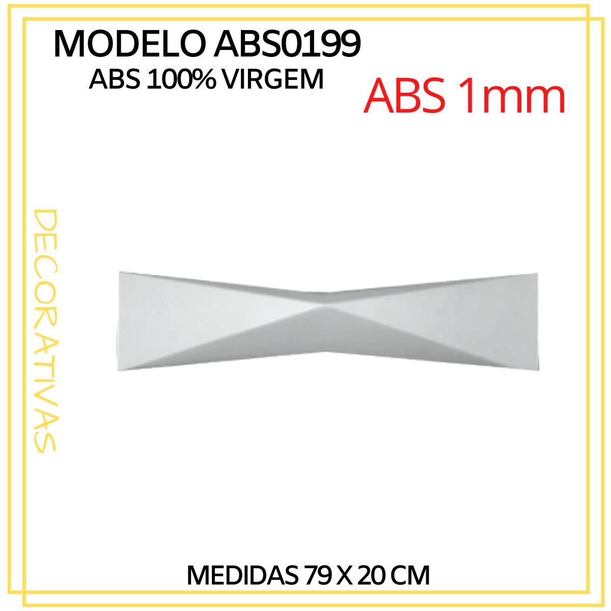 Forma De Gesso 3D em ABS - ABS0199-1MM  79x20cm