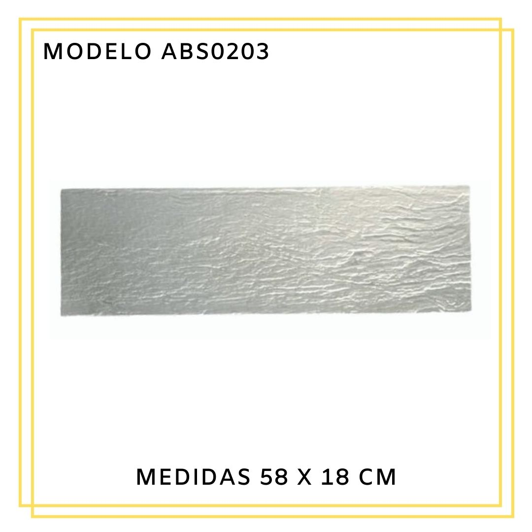 Forma De Gesso 3D em ABS 58x18 - ABS0203-1MM 58x18cm
