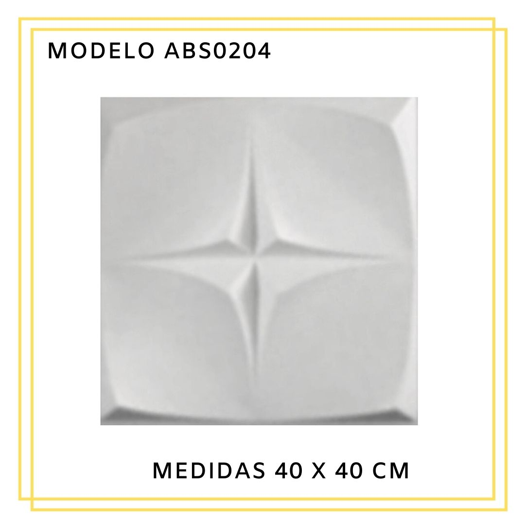 Forma De Gesso 3D em ABS - ABS0204-1MM 40x40cm