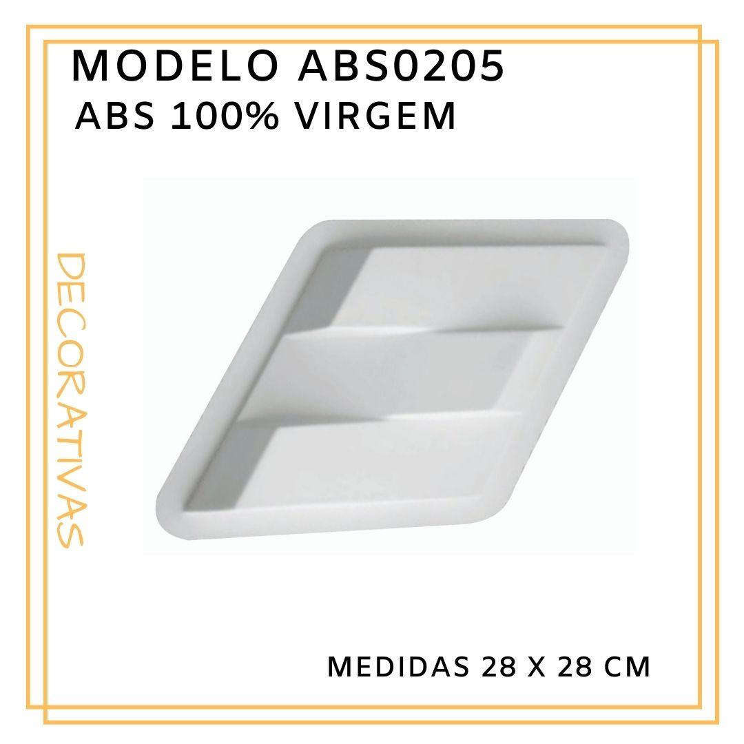 Forma De Gesso 3D em ABS - ABS0205-1MM 28x28cm