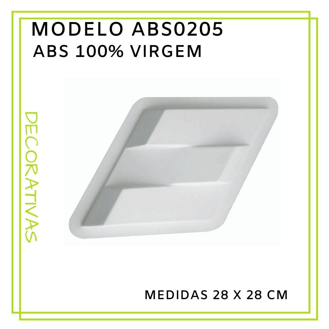 Forma De Gesso 3D em ABS - ABS0205-2MM 28x28cm