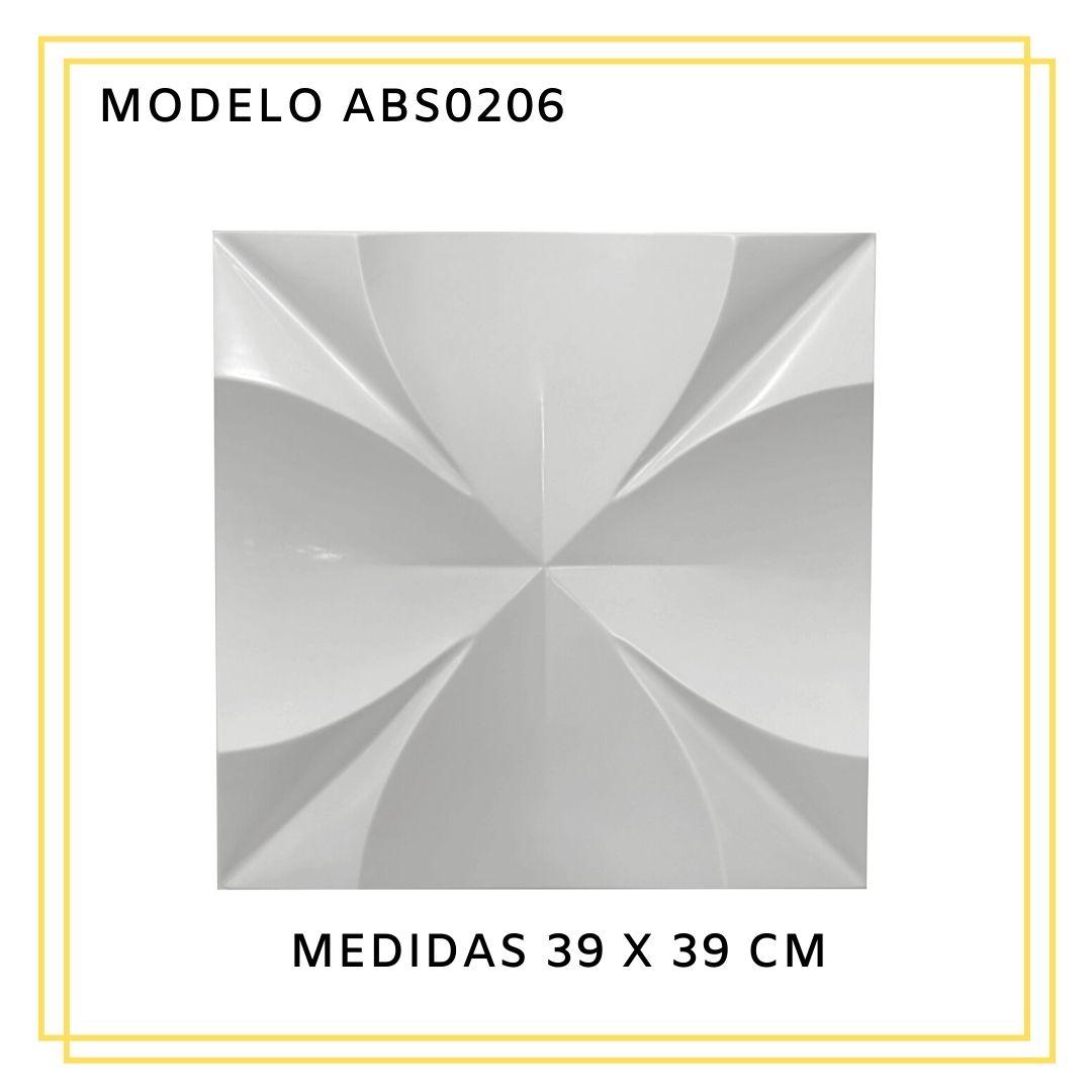 Forma De Gesso 3D em ABS - ABS0206-1MM 39x39cm
