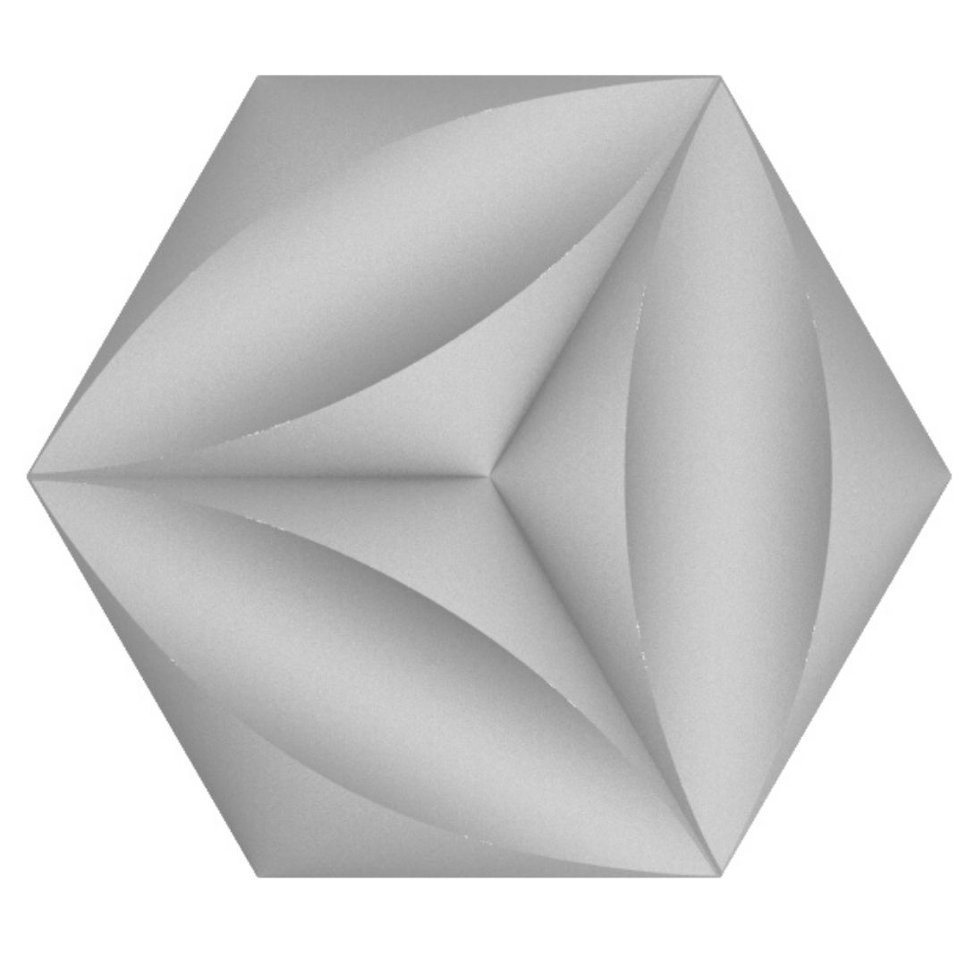 Forma De Gesso 3D em ABS - ABS0209-2MM 52x45cm