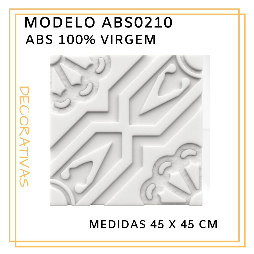 Forma De Gesso 3D em ABS - ABS0210-1MM 45x45cm