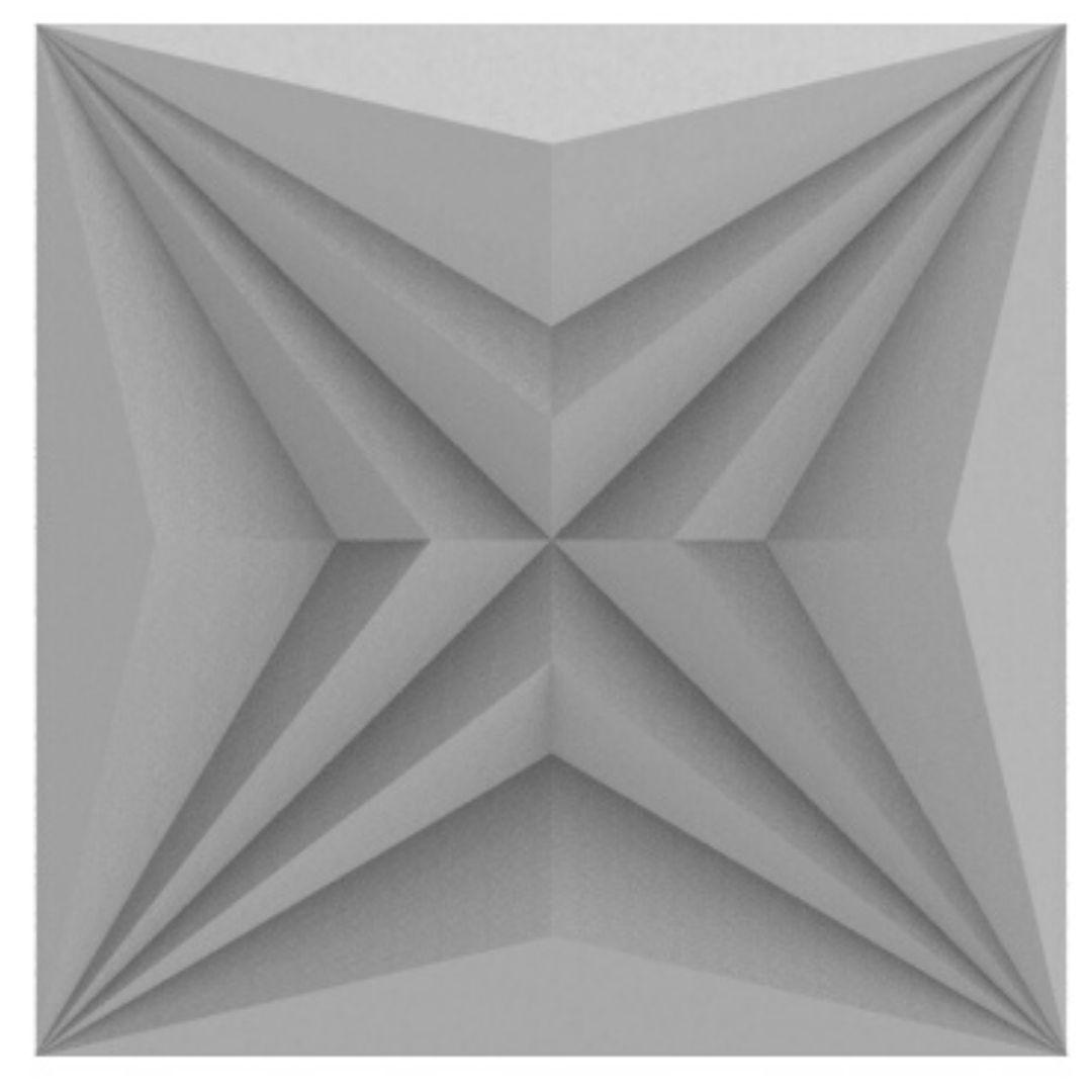 Forma De Gesso 3D em ABS - ABS0221 - 2MM 30x30cm