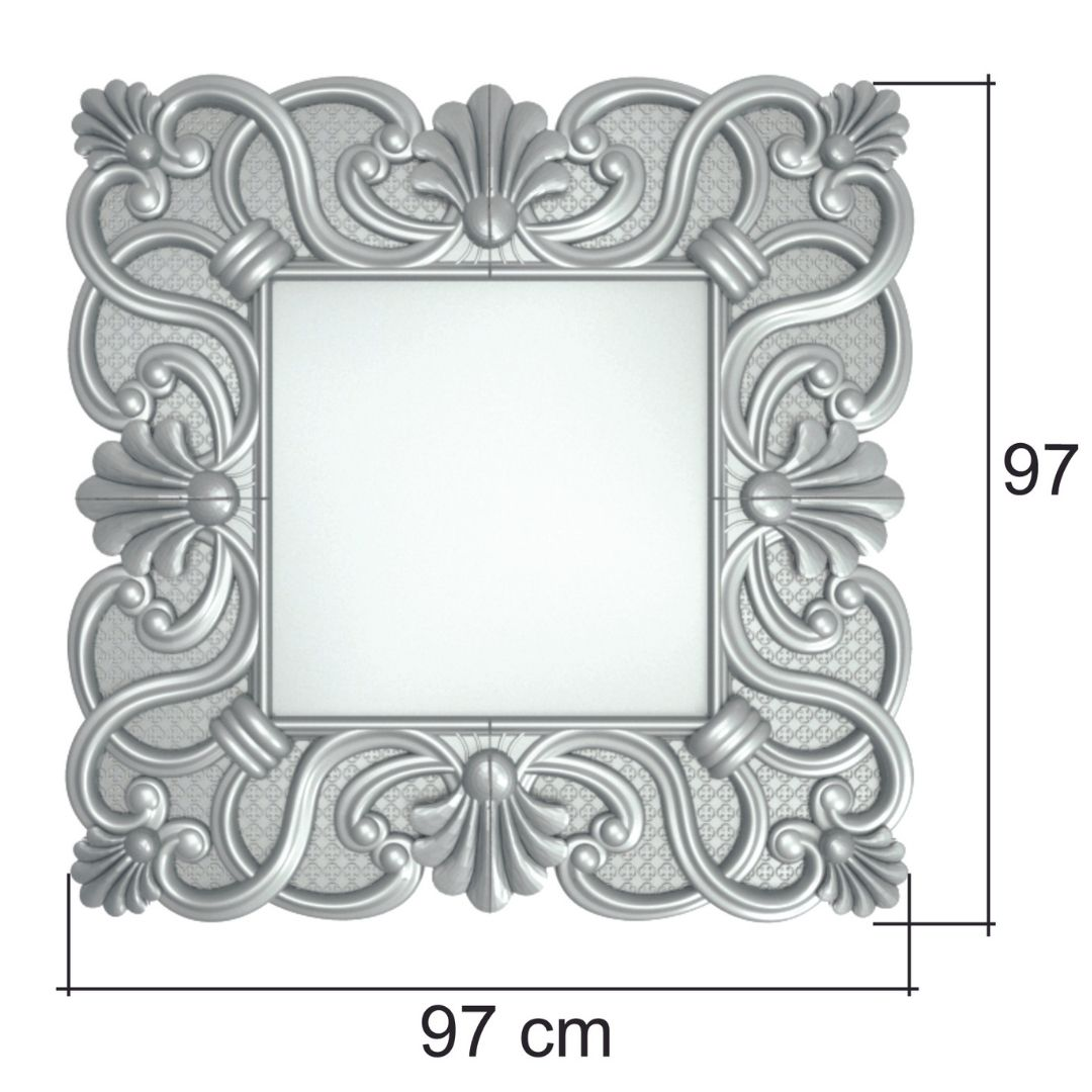 Forma De Moldura Em Gesso Para Espelho ABS-ME0607
