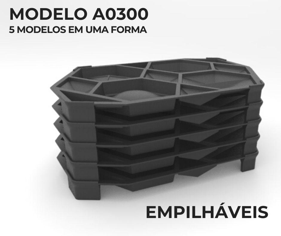 Forma em plástico injetado A0300