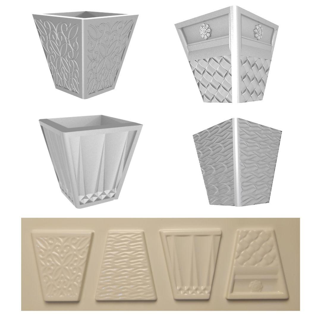 Forma Para Vasos De Suculenta ABS - VA0709