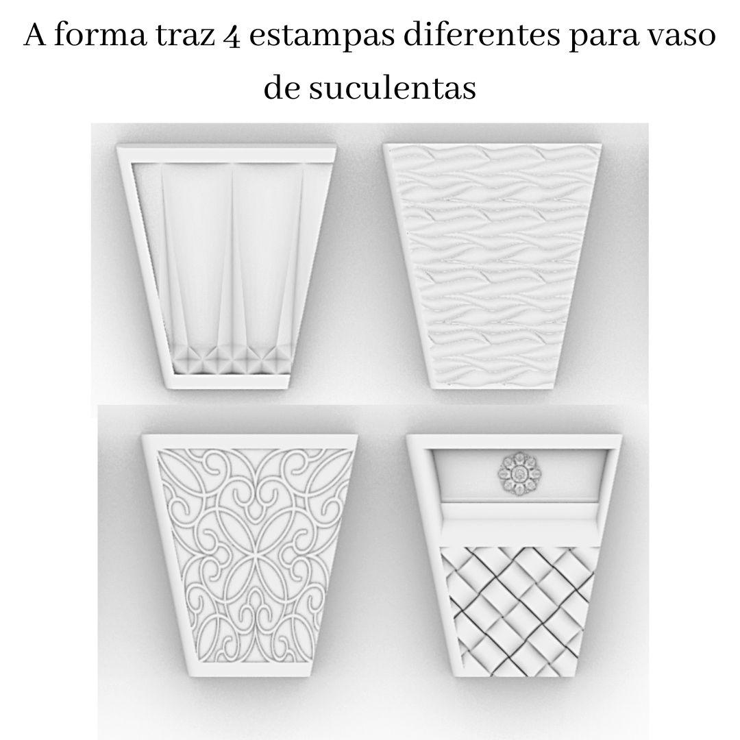 Forma Para Vasos De Suculenta POL - VA0709