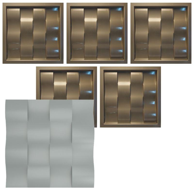 KIT 5 Formas De Gesso 3D em PET - PET0009 - 1.8MM