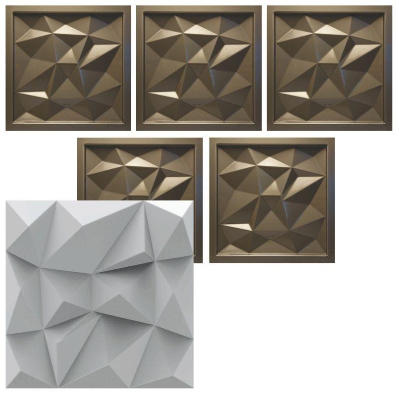 KIT 5 Formas De Gesso 3D em PET - PET0090- 1.8MM
