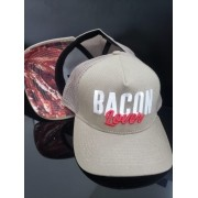 Boné Bacon Lover F.A. Trucker com Foto do Bacon F.A. na Aba