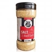 Sal com Alho Negro Salt & Black Garlic 500g Cia das Pimentas