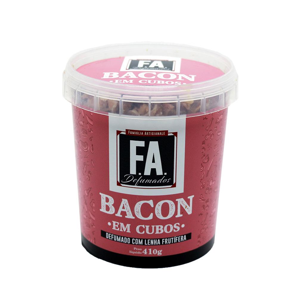 Bacon em Cubos Artesanal 410g F.A. Defumados