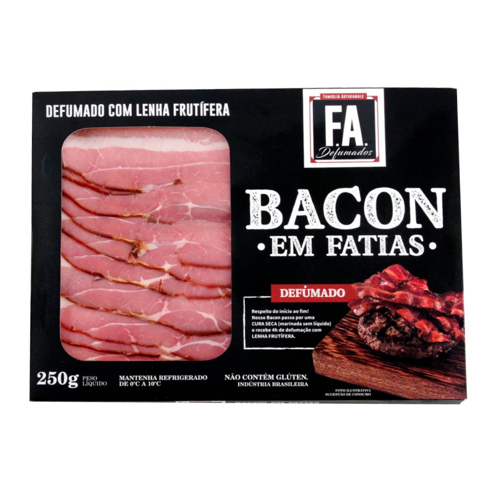 Bacon Fatiado Artesanal 250g F.A. Defumados