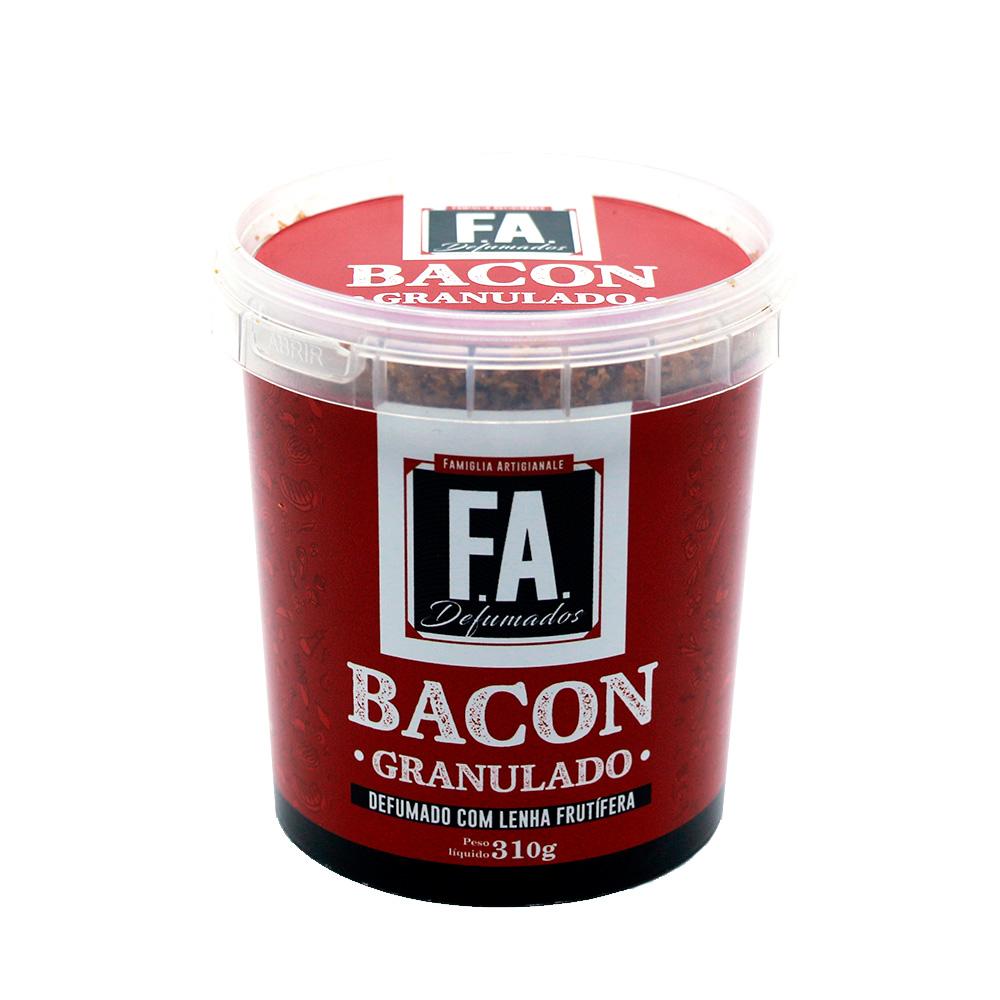 Bacon Granulado Artesanal 310g F.A. Defumados  - FADEFUMADOS
