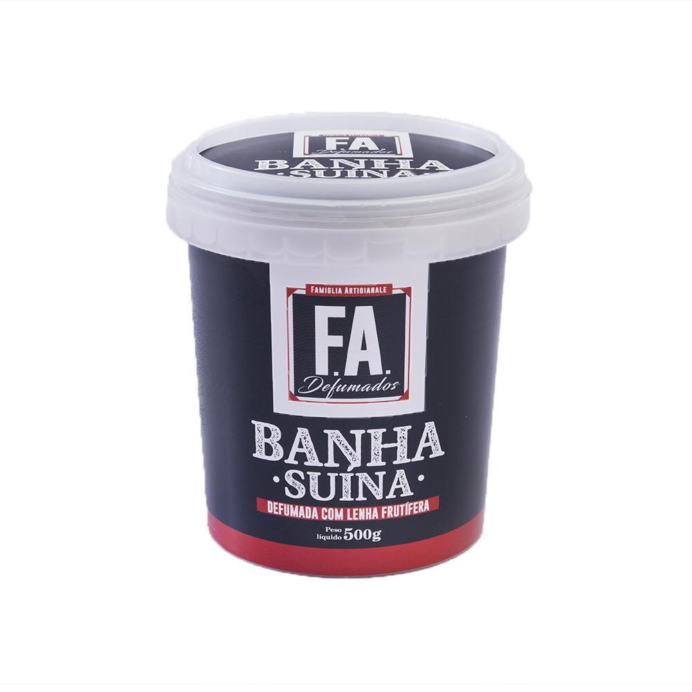 Banha Suína Defumada com Lenha Frutífera 500g F.A. Defumados  - FADEFUMADOS