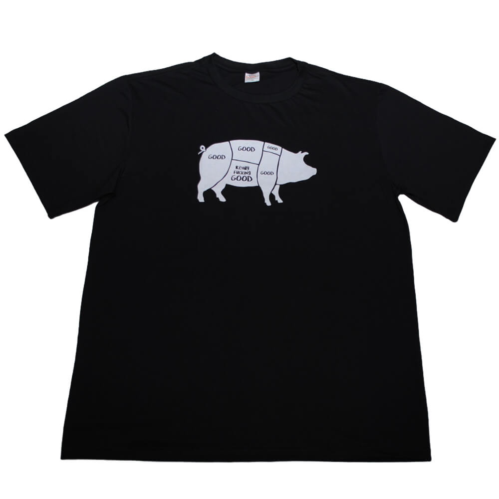Camiseta Preta Good Bacon F.A.