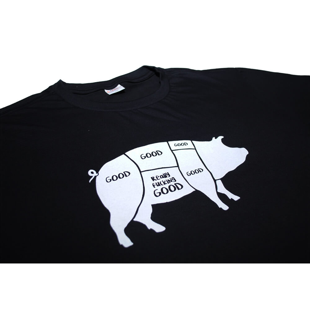 Camiseta Preta Good Bacon F.A.  - FADEFUMADOS