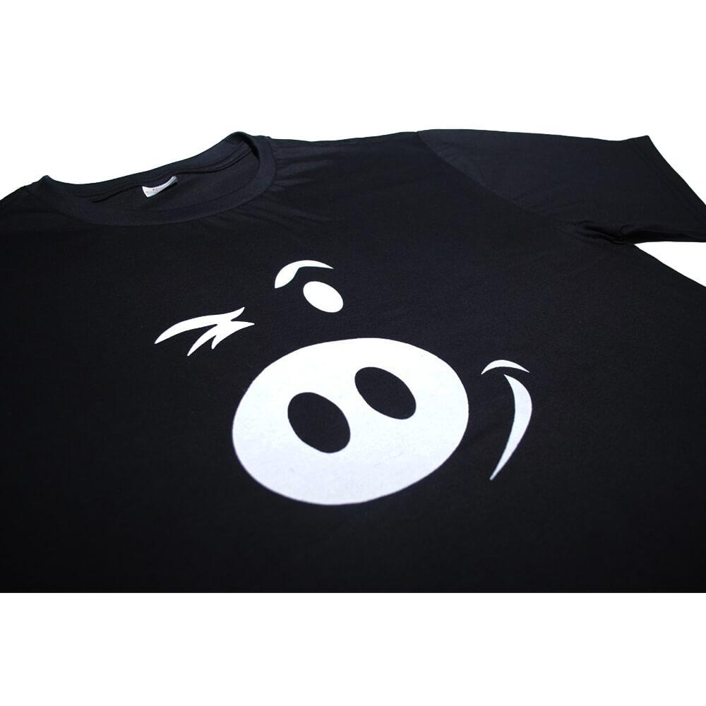 Camiseta Preta Porco