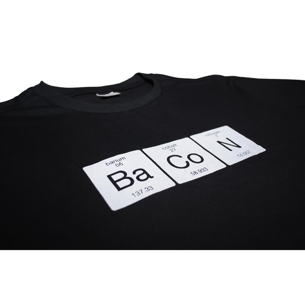 Camiseta Preta Química do Bacon F.A.