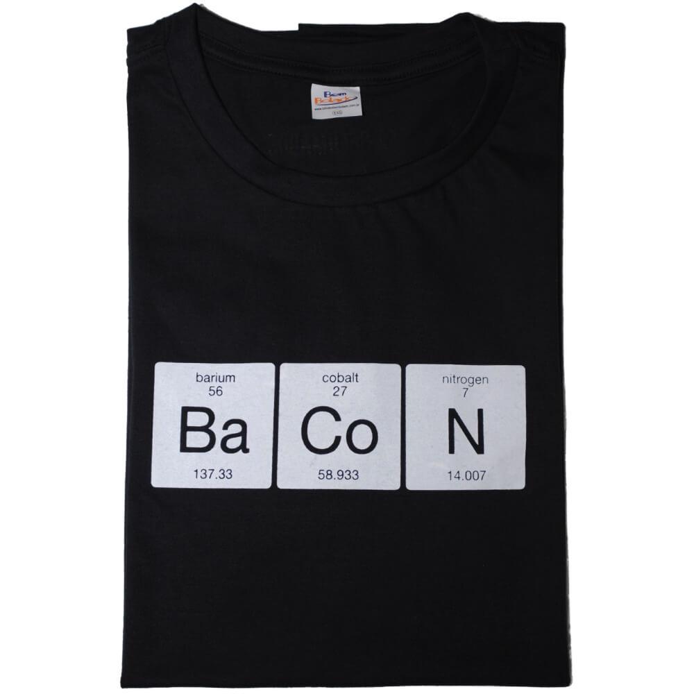 Camiseta Preta Química do Bacon F.A.  - FADEFUMADOS