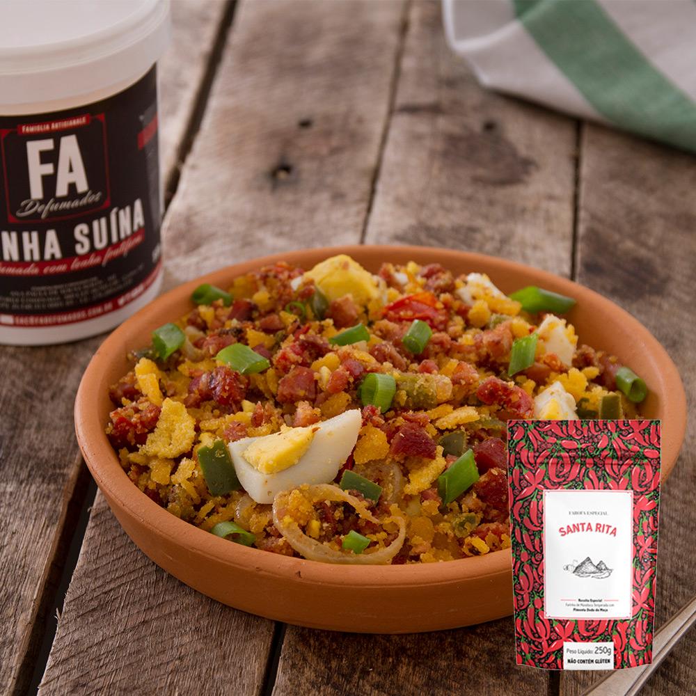 FAÇA EM CASA - Kit Farofa Santa Rita APIMENTADA com Bacon F.A