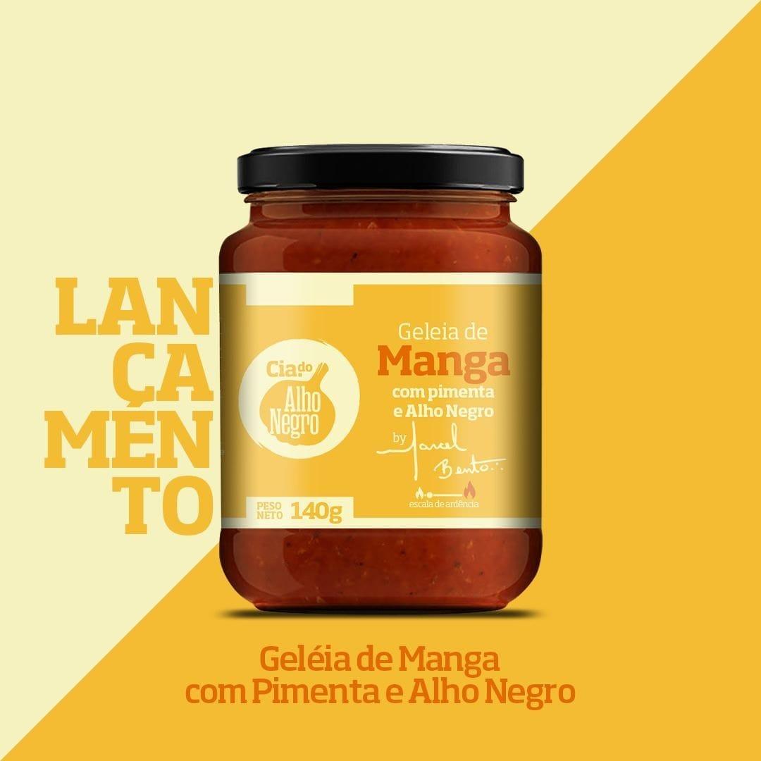 Geleia de Manga com Pimenta e Alho Negro 240g - Cia das Pimentas  - FADEFUMADOS