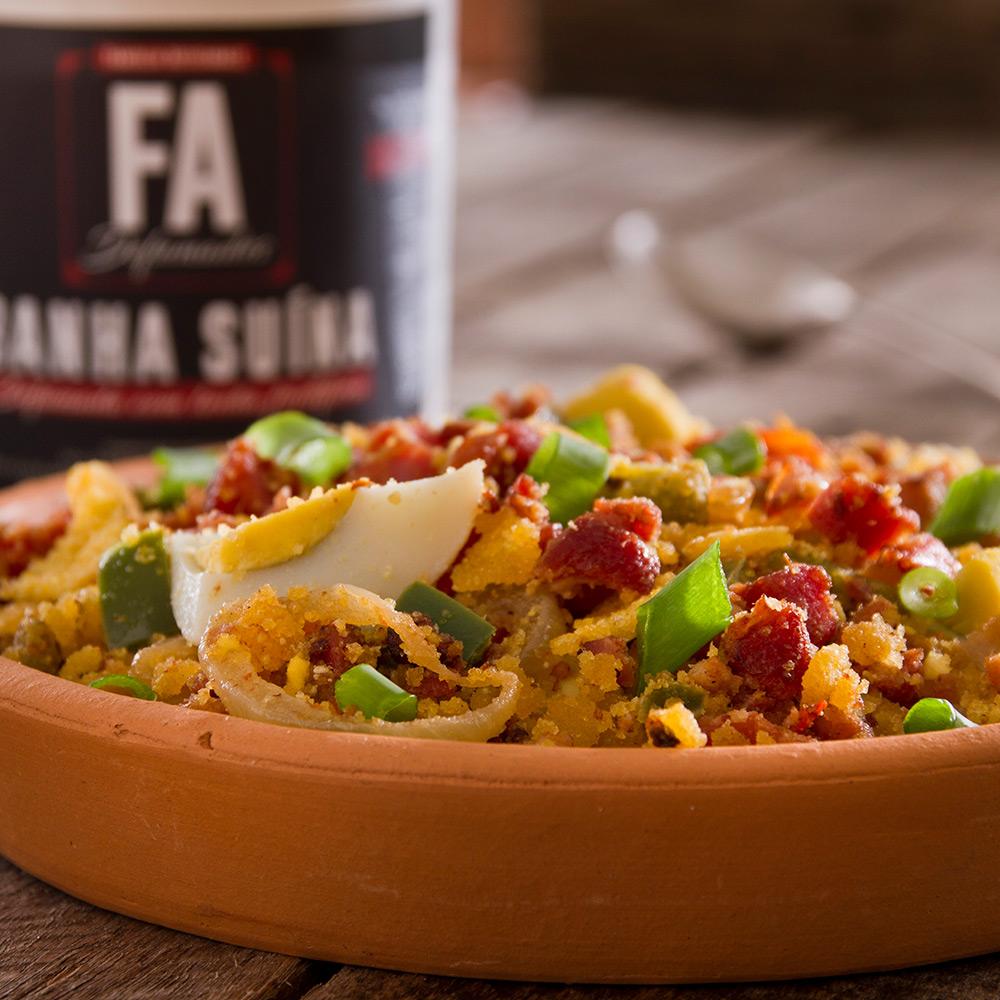 FAÇA EM CASA - Kit Farofa Santa Rita ALHO com Bacon F.A