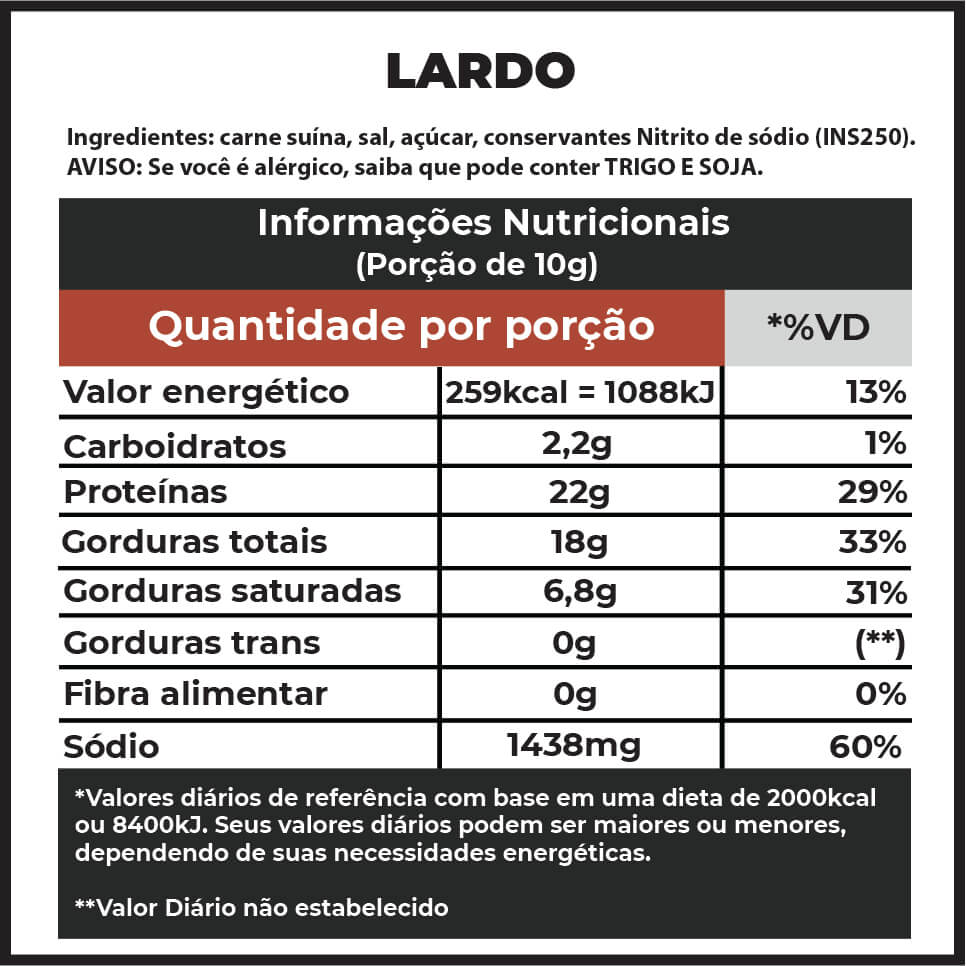 Lardo F.A. | A partir de 250g