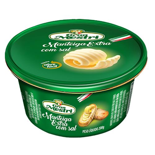 Manteiga Lata com Sal Gran Mestri 200grs  - FADEFUMADOS