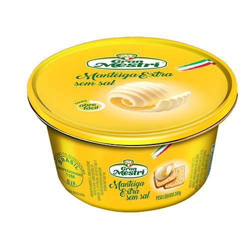 Manteiga Lata sem sal Gran Mestri 200grs