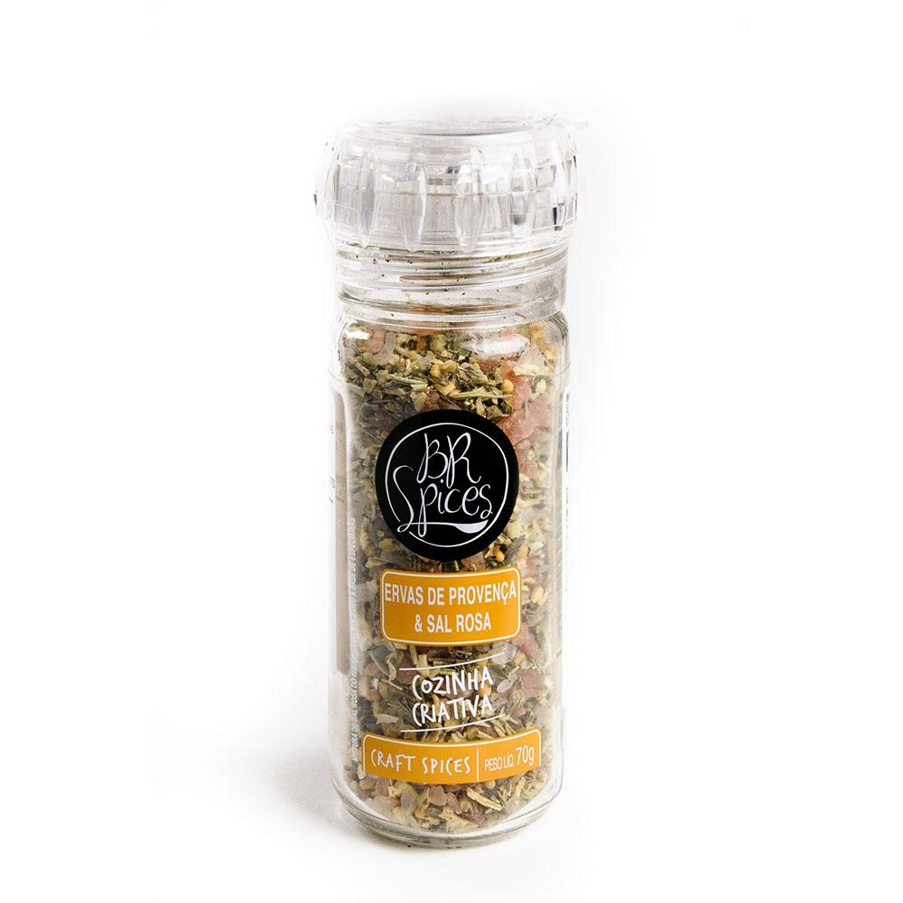 Moedor Ervas de Provença & Sal Rosa - Br Spices  - FADEFUMADOS