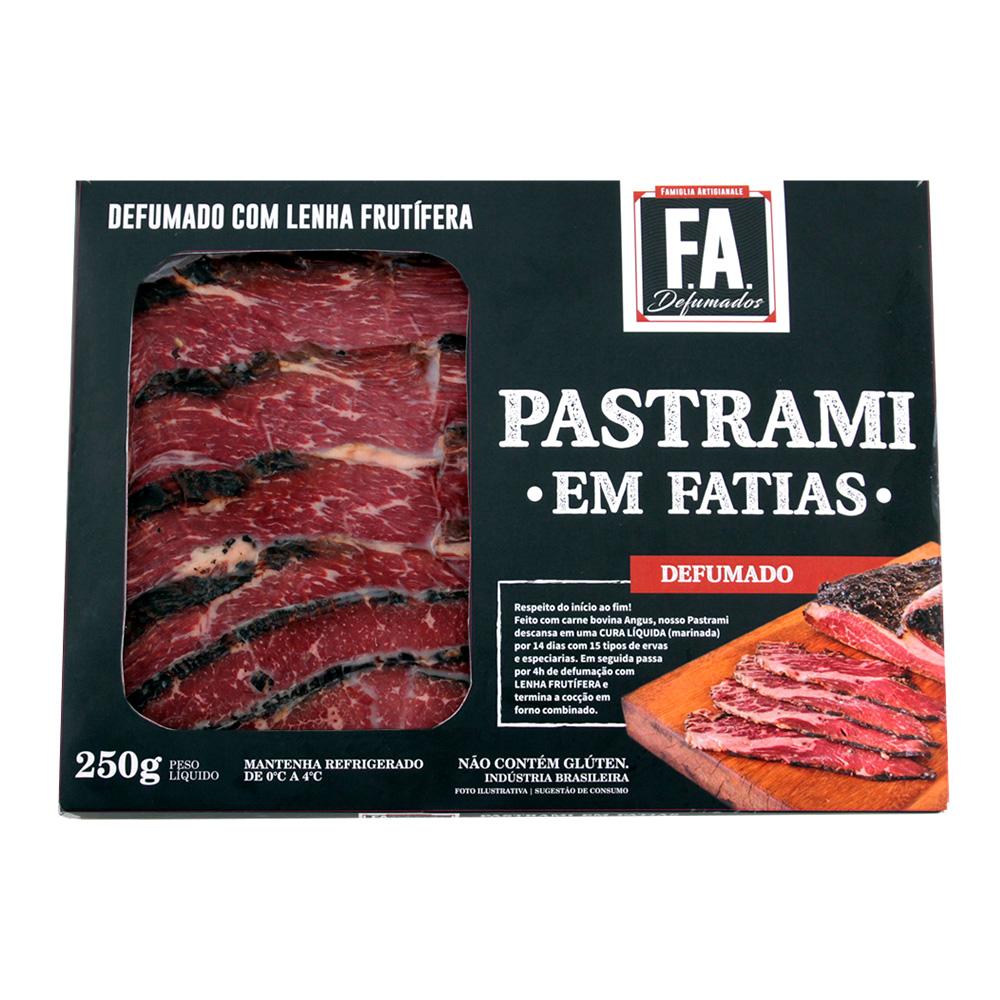 Pastrami em Fatias Artesanal 250g F.A. Defumados
