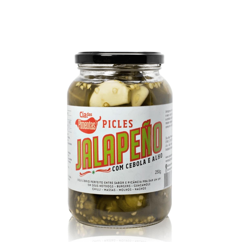 Picles de Jalapeño com Cebola e Alho 250g - Cia das Pimentas