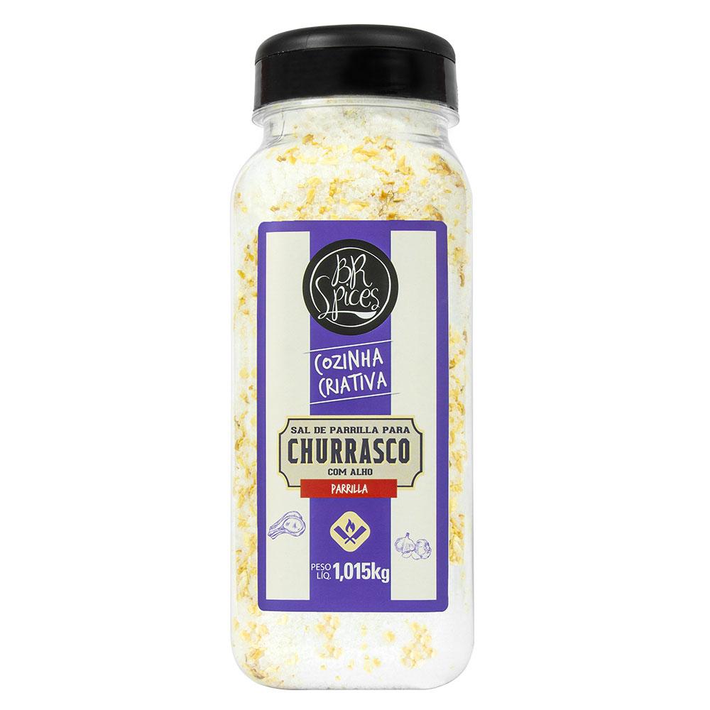 Sal de Parrilla para Churrasco Clássico com Alho 1Kg - Br Spices