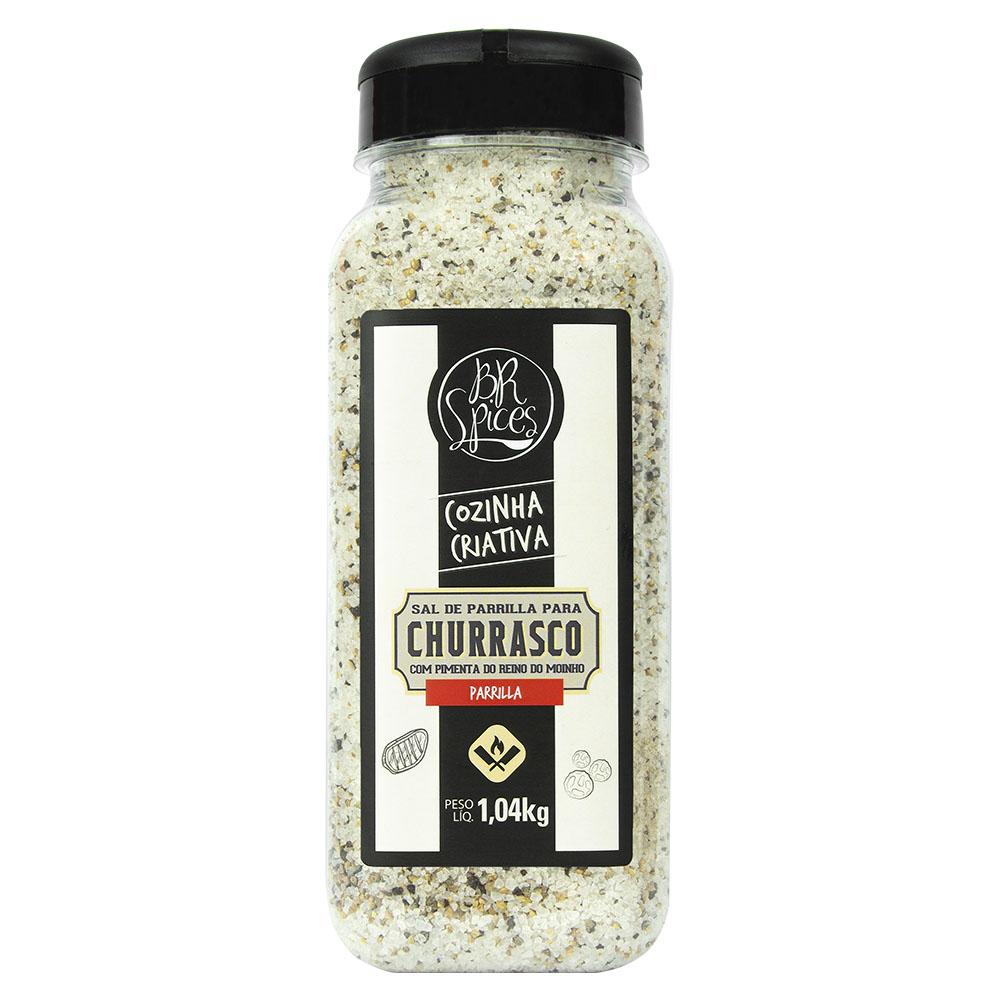 Sal de Parrilla para Churrasco com Pimenta do Reino 1Kg - Br Spices