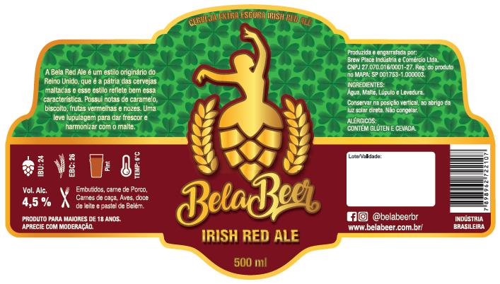 BELA IRISH RED ALE - R - KEG 30 LITROS