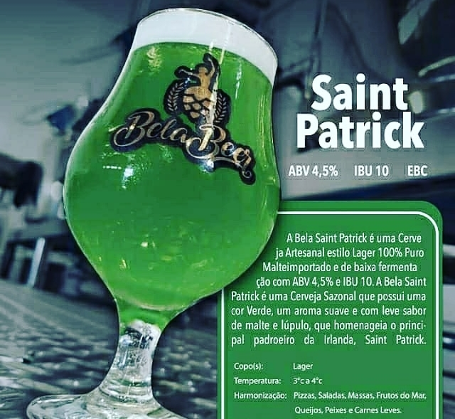 BELA SAINT PATRICK PET GROWLER 1 LITRO