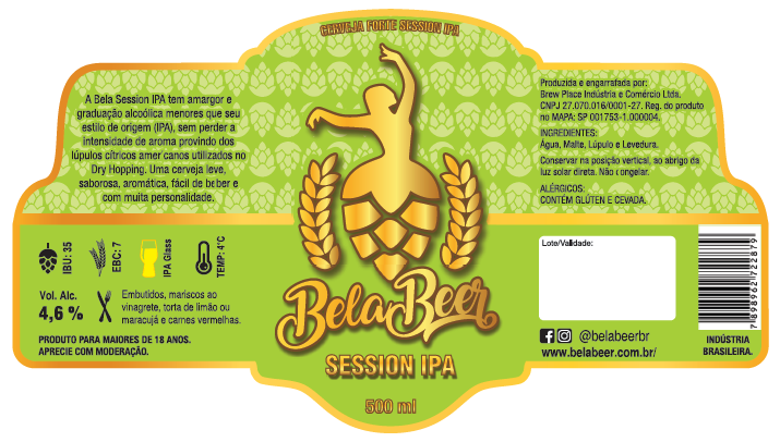 BELA SESSION IPA - R - KEG 20 LITROS
