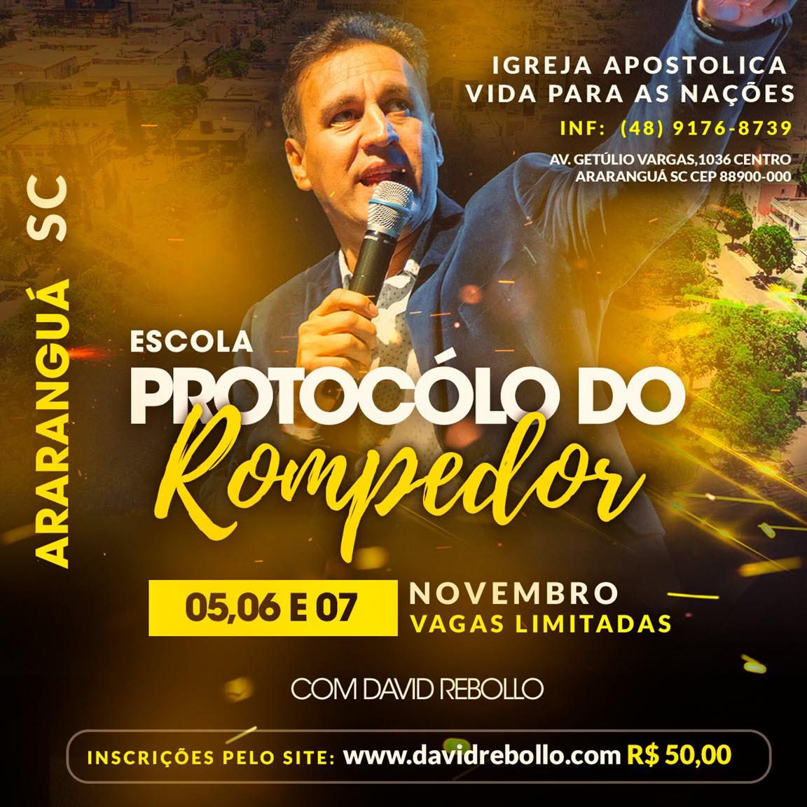 Escola Protocolos do Rompedor em Araranguá - ESGOTADO - Vendas disponíveis apenas no local